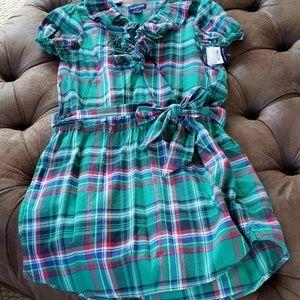 Green plaid Ralph Lauren Dress